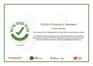 We're good to go certificate for COVID 19 standards
